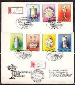 Hungary, Scott cat. 2894-2900. Museum Pieces, IMPERF on 2 First day covers. ^
