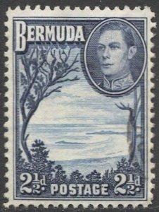BERMUDA 1938, 2-1/2d KGVI  Sc 120  MLH VF, Trees - Grape Bay