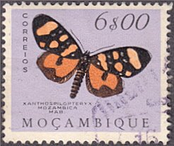 Mozambique # 380 used ~ 6e Butterfly