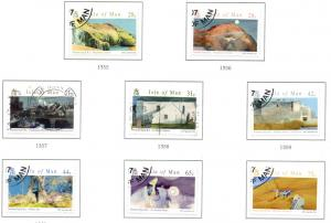 Isle of Man Sc 1190-7 2007 Sayle Paintings stamp set used