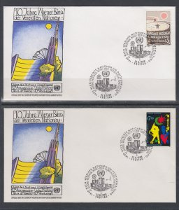 UN Vienna 93-94 UN Postal Administration U/A Set of Two FDC