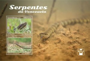 Guinea-Bissau - 2021 Venezuela, Lancehead Snakes - 2 Stamp Sheet - GB210203a
