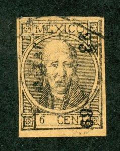 MEXICO HIDALGO SC# 46 FOLLANSBEE# 56 TYPE I IMPERF 23 69 OAXACA USED AS SHOWN