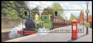 Isle of Man 1998,Steam Engine Train MNH S/Sheet # 785