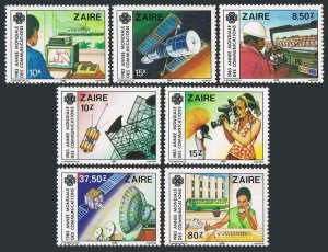Zaire MNH 1139-45 World Communications Day 1984