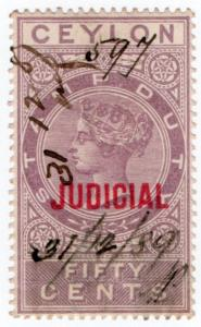 (I.B) Ceylon Revenue : Judicial 50c