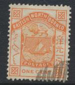 North Borneo  SG 24  Orange  Used  perf 14 please see scans & details