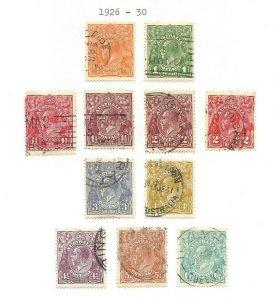 Australia #66 thru #76 Complete Set of 1926 King George V $$$$