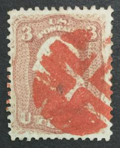 MOMEN: US #65 RED CANCEL USED #26368