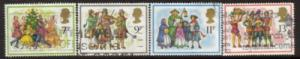 Great Britain Sc 847-0 1978 Christmas stamps used