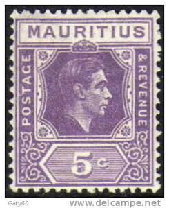 Mauritius 19385c slate-lilac MH