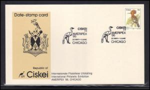 Card Event Cancel Ciskei AMERIPEX '86 BoxCV0371