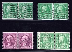 US STAMP USED LINE PAIR STAMP COLLECTION LOT #S1