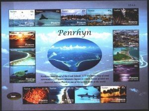 Penrin. 2011. Small sheet 647-61. Tourism, coastal landscapes, shark, stingra...