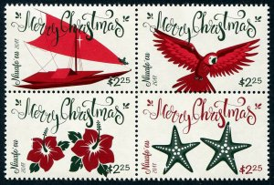 HERRICKSTAMP NEW ISSUES NIUAFO'OU Sc.# 369 Christmas 2017 Block of 4