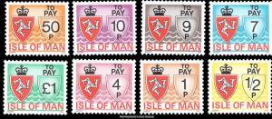 Isle of Man Scott J9-J16 Mint never hinged.