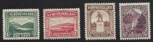 Newfoundland #131 thru 134 OG Very Nice!!