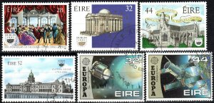 Ireland #828-33  F-VF Used  CV $6.30 (X5538)