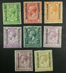 MOMEN: BECHUANALAND SG #91-98 1925-7 MINT OG H £150 LOT #62308