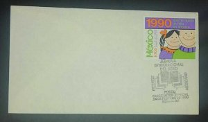A) 1990, MEXICO, CAMPAIGN FOR CHILD VACCINATION, SPECIAL CANCELLATION XI INTERNA