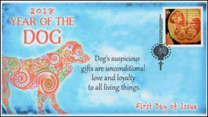 CA18-001, 2018, Year of the Dog, Chinese New Year, Day of Issue, FDC