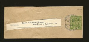Austria Postmark 1919 Wien 101 5 Heller Green Newspaper Wrapper Entire