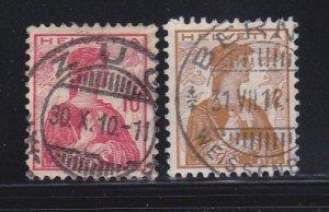 Switzerland 164-165 U Helvetia