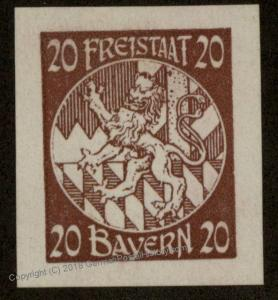 Germany Bavaria Unissued Probedruck MNG Proof Stamp Essay Essai 54615
