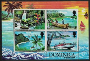 Dominica Sailing Fishing Flowers Tourism MS SG#MS331