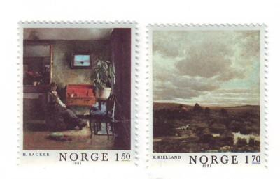 Norway Sc 792-3 1981 Paintings stamps mint NH