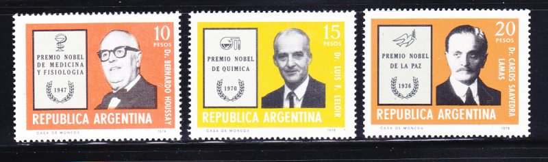 Argentina 1135-1137 Set MNH Nobel Prize Winners (A)