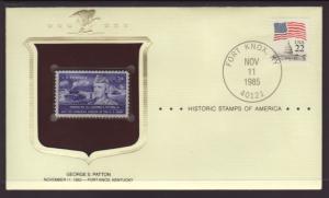 US Patton Historic Stamp Cover BIN