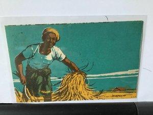 Burma vintage  propaganda art postcard  Ref R28088