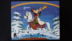 Disney - Redonda 1988. ** MNH Block/2