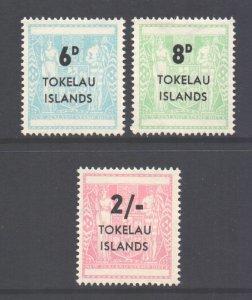 Tokelau Scott 6/8 - SG6/8, 1966 Overprint Set MH*