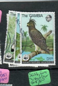 GAMBIA (P1412B)  BIRDS WORLD WILDLIFE FUND WWF SC 381-4   VFU