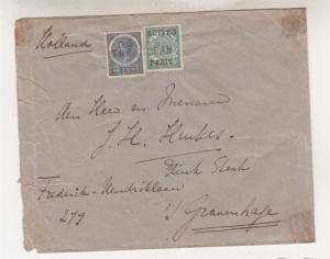 NETHERLANDS EAST INDIES,1909 cover, TAPATOENAN 10c. & 2 1/2c. BUITEN BEZIT