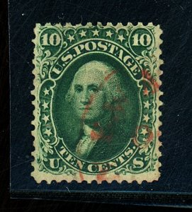 U.S. #62B Used F-VF Red Cancel no Faults Cat $1,710