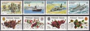Falkland Islands #375-8, 379-82  MNH CV $4.30 (Z8276)