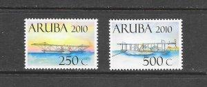 ARUBA #362a-b  AIRPLANES    MNH