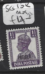 INDIA  PATIALA   (PP2408B)   KGVI   1 1/2A  SG 108  MOG