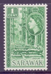Sarawak Scott 197 - SG188, 1955 Elizabeth II 1c MH*
