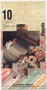 Canada - 1993 Hand-Crafted Textiles Booklet #BK159b Mint