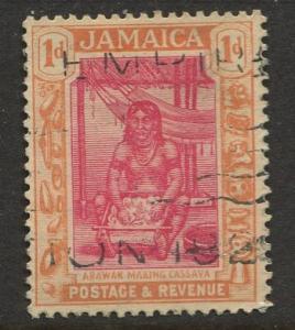 Jamaica -Scott 76 - KGV Pictorial Definitive -1921 - Used - Single 1p Stamp