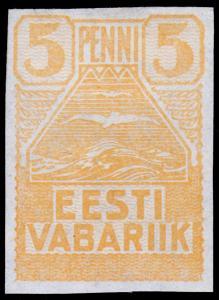 Estonia Scott 27 (1919) Mint H F-VF
