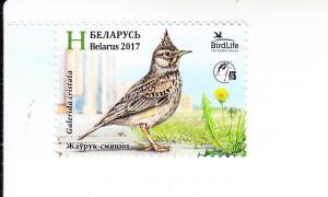 2017 Belarus Crested Lark (Scott 1041) MNH