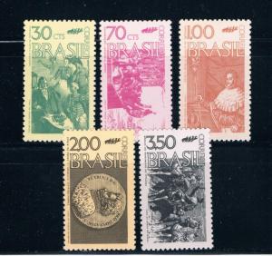 Brazil 1242-46 MNH set Founding of Brazil (B0384)