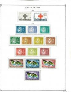 South Arabia 1963-1965 Mint in Mounts on a Scott International Page