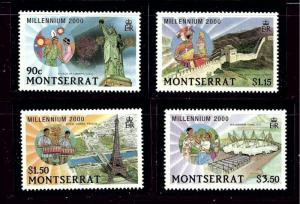 Montserrat 1008-11 MNH 2000 Millenium