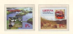 Lithuania Sc 628-9 1999 Europa Parks stamp set mint NH